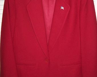 Blazer 12, Pendleton Wool True Red Blazer, Fantastic Vintage Fall Find ! see details