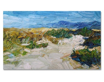 Original landscape oil painting, textured painting on stretched canvas, contemporary art