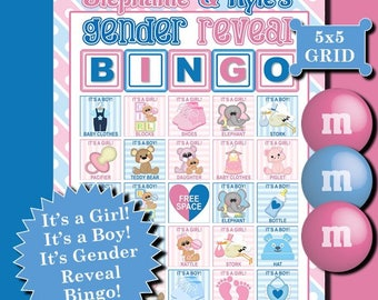 Gender Reveal Bingo is a fun, exciting gender reveal game to play with your family and friends. Everyone will be surprised!