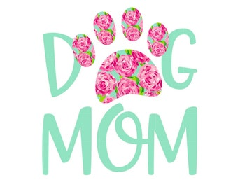 Dog Mom Decal, Lilly Print Decal, Paw Print Decal, Lilly Dog Paw, Lilly Decal, First Impressions, Dog Mom Car Decal,  Lilly Paw Print, Paws