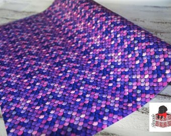 Mermaid scale wrapping paper sheets gift wrap purple, pink and blue GW3154