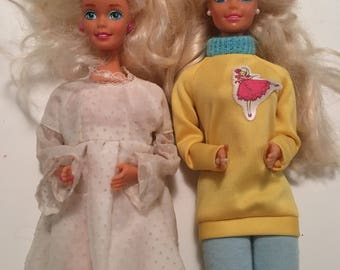 Barbie Pj and Barbie In Dress Lot