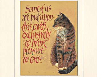 Mounted Cat Print, the perfect print for all Cat Lovers!