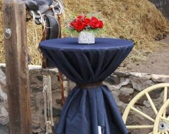 "Jean Wedding Tablecloth - Blue Jean Tablecloth - Denim Tablecloth - Country Wedding Decor - Blue Jean Wedding Decor - Blue Denim - 75"" x 75"""