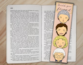 Thank You For Being a Friend Bookmark - Golden Girls Bookmark