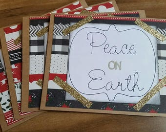 Peace on Earth cards  4-pack