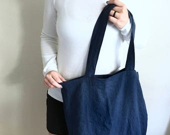 Linen Tote | Shopper Bag | Linen Tote Bag | Eco-friendly | Gifts for Women | Gift for Mom | Handmade | Natural