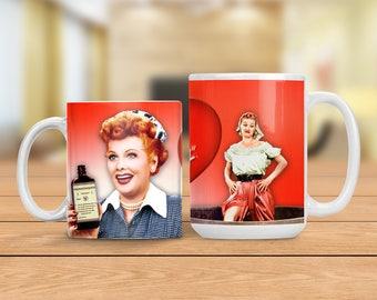 Lucy Mug, Lucille Ball Funny Mug, I Love Lucy Vitameatavegamin Mug, Funny and Humorous Mug, Coffee Lover Gift Idea, Tea Cup Mug