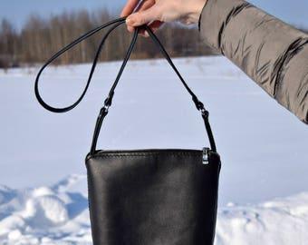 Shoulder leather bag Crossbody leather bag Soft leather bag