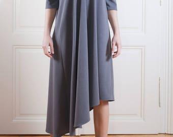 Asymmetric dress/Sexy dress/Maternity dress/ Casual dress with details/ Modern dress