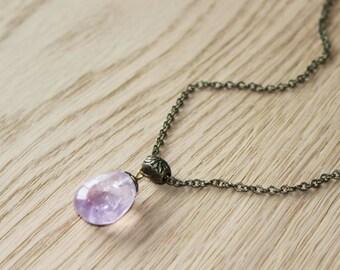 Amethyst, pendant necklace, inner harmony