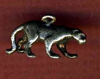 Silver Panther Charm