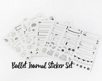 Bullet Journal Stickers // Banner Stickers •  Planner Stickers • Diary Sticker • Stationery • Cute Stickers • Craft • Organisation • BuJo