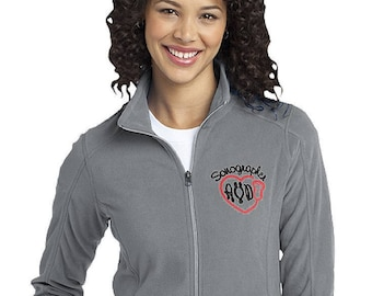 Women's Sonographer or Ultrasound Tech fleece jacket with Monogram- Customizable Jacket with Colors and Font options