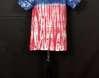 "Tie Dye Shirt ""Red White & Blue"" (Hand Dyed) 