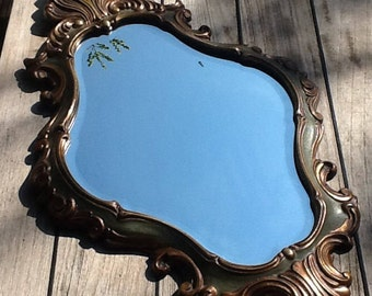 Louis XV style bevelled mirror