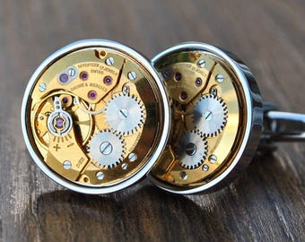 Baume and Mercier Watch Movement Cufflinks