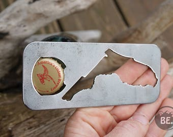 Florida State Rustic Steel Recycled Metal Industrial Bottle Opener, FL Travel Gift, wedding favor, Party gift, beer opener