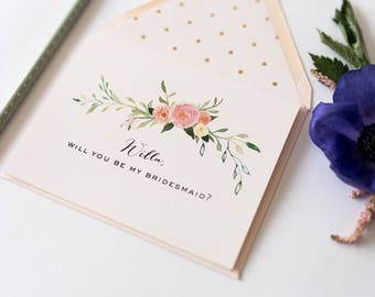 personalized will you be my bridesmaid card / bridesmaid proposal / bridal party card / bridesmaid card / bridesmaid gift / maid of honor