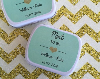 Mint to be design personalised mint tin wedding favours