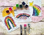 Whosoever Rainbow Watercolor Journaling Cards 3x4 Pocket Pages Journal Print Hymn Hymnal Project Bible Verse Life Calligraphy Christian
