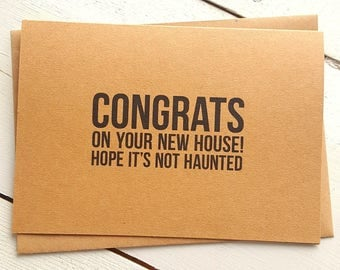 Congrats New House funny new home card | etsy