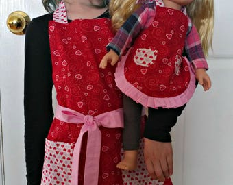 Little Girl and Doll Aprons