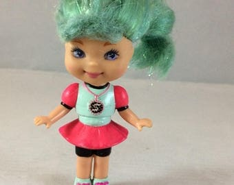 Vintage Lil Secrets Doll Blue Hair Mattel Dress Pink blue 1993
