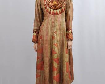 Vintage Bollywood Princess Super Luxe Silk Beaded Dress