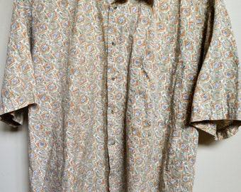 Uniquely Patterned Men's Button-Up
