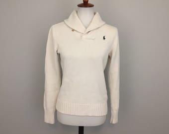 White cotton sweater   Etsy