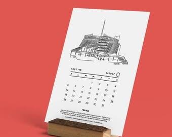 2018 Calendar - Pavilions of the Expo67 - 12 months - 12 pavilions - 12 fun facts
