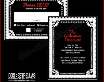 DEL RIO RSVP cards and envelopes