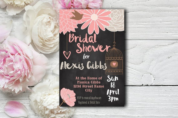 Birdcage Bridal Shower Invitation