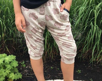 cactus short kid jogger pants with pockets knee length