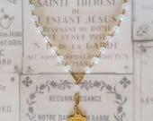 Chaplet of Saint Thérèse in Opalite & 18K Gold Vermeil