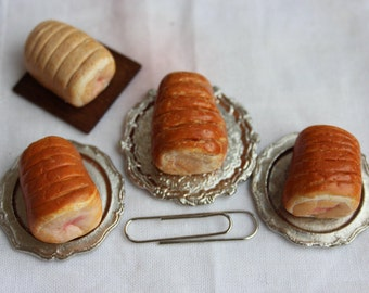 Pork joint, 12th scale dollshouse food, roast and raw meat, one inch scale dollhouse miniature food