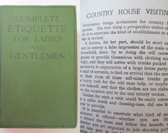 Fascinating vintage guide to manners c1920s~Complete Etiquette for Ladies and Gentlemen published by Ward,Lock & Co.~Social history