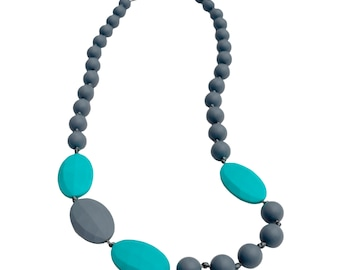 Silicone Teething Necklace - Splash of Colour (100% Baby-Safe Silicone)