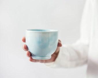 Ceramic Coffee Mug, Pottery Mug, Modern Latte Mug, Espresso Mug, Turquoise Pottery Espresso Cup, Stoneware Elegant Cup, Ready To Ship