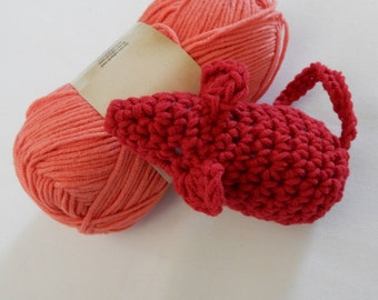 Cat Toy: Red, Crochet Kitten Toy With Catnip
