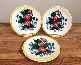 Vintage Vernon Kilns Bouquet Pattern Gale Turnbull Designer Salad Plates
