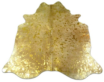 gold metallic cowhide rug size 75 x 65 ft gold metallic cow hide rug j