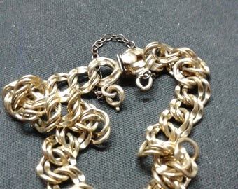 Chunky 12k gold filled charm bracelet from the 50's