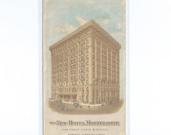 New Orleans The New Hotel Monteleone Allover Advertising Cover CDS New Orleans LA Jan 4 1929