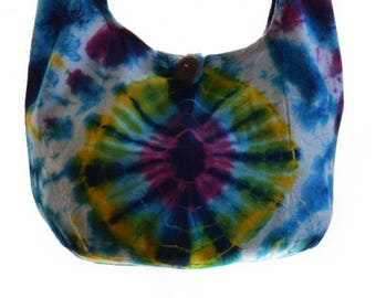 Small tie dye bag,  Purse, Sling , Shoulder, Cotton sling, Cotton purse, Hippie, Thai, Thai purse, Boho, Boho sling,