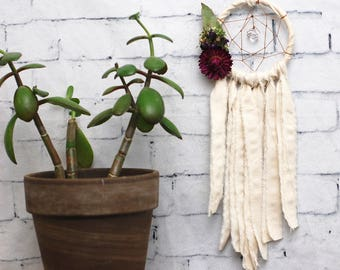 Ivory Mini Dream Catcher- Rearview Mirror Dream Catcher