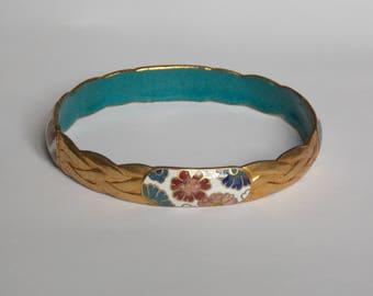 Vintage cloisonné enamel Bangle bracelet