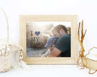 Fathers Day Gift | Valentines Day Gift For Daddy | Birthday Gift For Dad | Gift From Kids | Personalized Photo Card | Gift From Son - 54977B