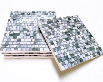 Gray Coasters - Grey Drink Coasters - Home Decor - Tile Coasters - Ceramic Coasters - Table Coasters - Set of Coasters - Coaster Sets